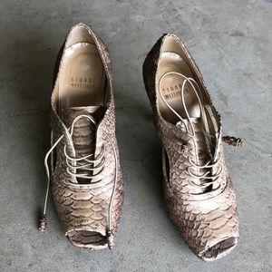 Stuart Weitzman snakeskin heels size 4